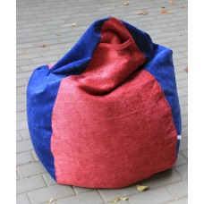 Bean bag blue with red
