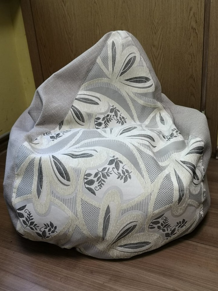bean bag with flowers